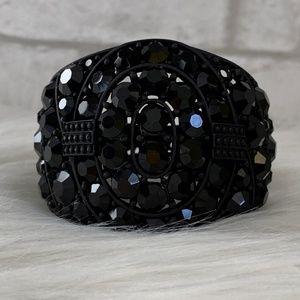 Black onyx sparkly statement bracelet